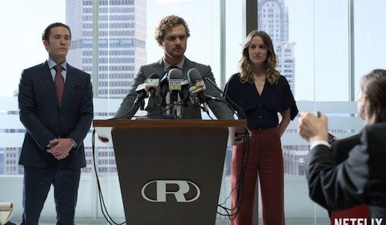 "Actor Finn Jones stars in the Netflix series ""Iron Fist"" as Danny Rand. (YouTube, Netflix)"