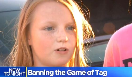 Gold Ridge Elementary School in Folsom, California, banned touch football games and 'tag' due to fears that students were being too rough. (CBS-13 Sacramento screenshot)
