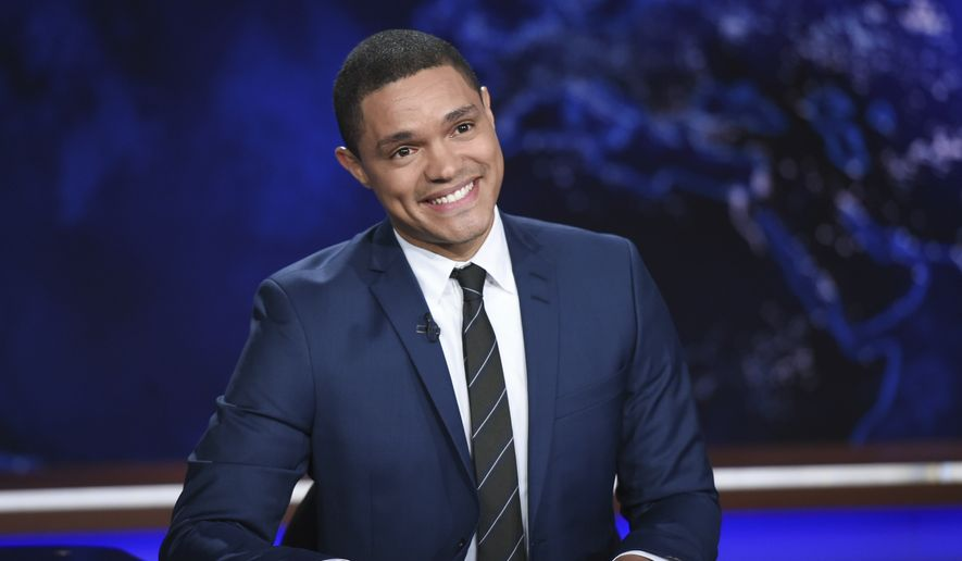 "In this Sept. 29, 2015, file photo, Trevor Noah appears during a taping of ""The Daily Show,"" on Comedy Central, in New York. (Photo by Evan Agostini/Invision/AP, File)"