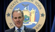 New York Attorney General Eric T. Schneiderman speaks during a news conference in New York on Feb. 11, 2016. (Associated Press) **FILE**