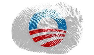 Obama Fingerprint Illustration by Greg Groesch/The Washington Times