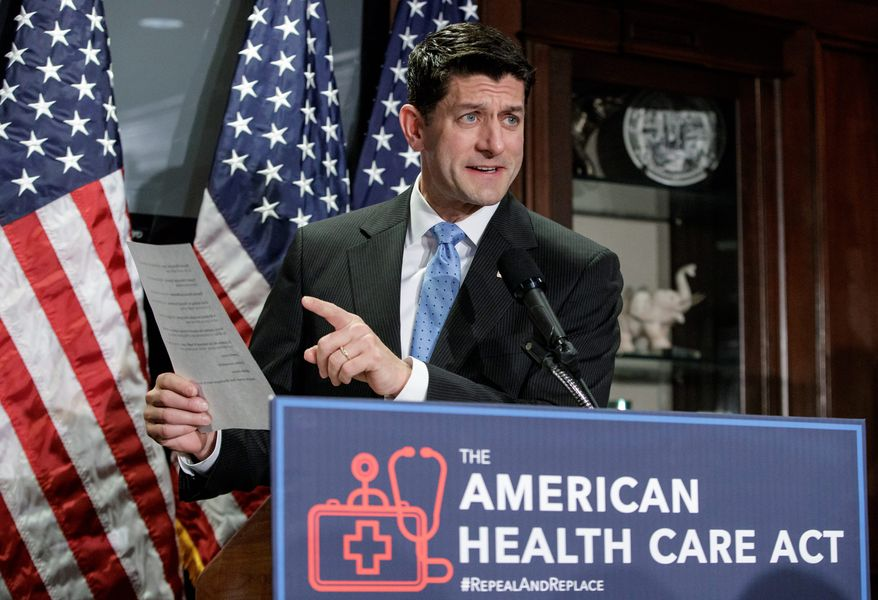 """""""Our plan is to hit the sweet spot that gets a big vote count, that gets us our passage, that gets all members happy,"""" House Speaker Paul D. Ryan said. (Associated Press)"""