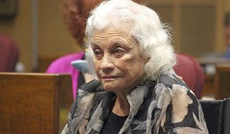 Former U.S. Supreme Court Justice Sandra Day O'Connor at the Capitol in Phoenix Wednesday, March 15, 2017. O'Connor, who served in the Arizona state Senate as a member and majority leader from 1969 until she because a state court judge in 1973, was honored for her work promoting civics education. (AP Photo/Bob Christie)