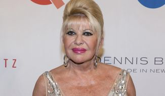 """FILE - In this May 9, 2016 file photo, Ivana Trump, ex-wife of President Donald Trump, attends the Fashion Institute of Technology Annual Gala benefit in New York. Ivana Trump, the first wife of President Donald Trump, is writing a memoir which will focus on the couple's three children. """"Raising Trump"""" will be published Sept. 12, 2017, by Gallery Books. (Photo by Michael Zorn/Invision/AP, File)"""