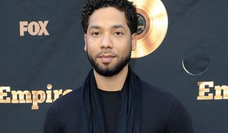 "FILE - In this May 20, 2016 file photo, Jussie Smollett attends the ""Empire"" FYC Event in Los Angeles. On Wednesday, March 15, 2017, Smollett debuted a music video for ""F.U.W."", a song about injustice which he wrote and performs, on his YouTube page. (Photo by Richard Shotwell/Invision/AP, File)"