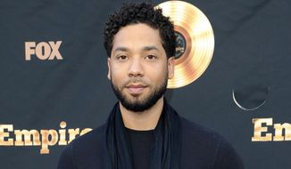 """FILE - In this May 20, 2016 file photo, Jussie Smollett attends the """"Empire"""" FYC Event in Los Angeles. On Wednesday, March 15, 2017, Smollett debuted a music video for """"F.U.W."""", a song about injustice which he wrote and performs, on his YouTube page. (Photo by Richard Shotwell/Invision/AP, File)"""