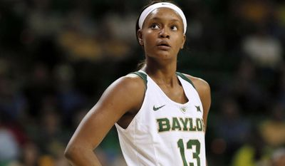 FILE - In this Nov. 22, 2016, file photo, Baylor's Nina Davis watches free throws during an NCAA college basketball game against Southeastern Louisiana in Waco, Texas. Davis is a two-time AP All-American who has been to the Elite Eight three times while setting plenty of Baylor and Big 12 records. But her standout career will feel incomplete without a Final Four trip or national title. This is the senior's last chance. (AP Photo/Tony Gutierrez, File)