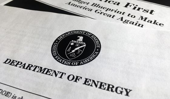 A portion of President Donald Trump's first proposed budget focusing on the Department of Energy was released by the Office of Management and Budget. (Associated Press/File)