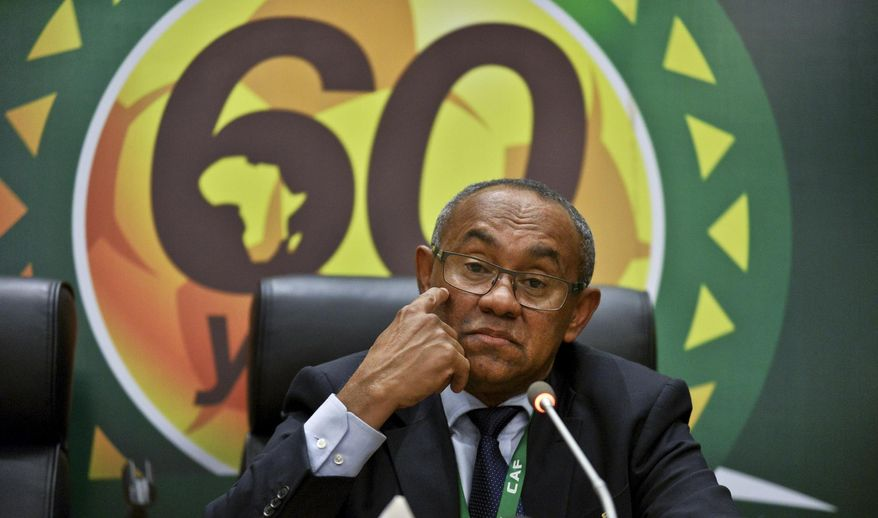 New president of the African soccer confederation Ahmad of Madagascar, speaks at a press conference after being chosen at the general assembly of the Confederation of African Football (CAF) in Addis Ababa, Ethiopia Thursday, March 16, 2017. Issa Hayatou was voted out as president of the African soccer confederation on Thursday after 29 years in charge, losing to challenger Ahmad of Madagascar in a major shakeup for the sport on the continent. (AP Photo)