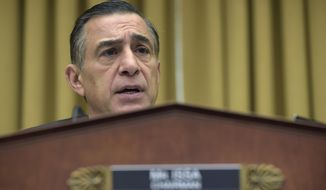 House Judiciary subcommittee on Courts, Intellectual Property, and the Internet Chairman Rep. Darrell Issa, R-Calif., speaks during a hearing on Capitol Hill in Washington, Thursday, March 16, 2017, on the restructuring the U.S. Court of Appeals for the Ninth Circuit. (AP Photo/Susan Walsh)