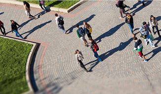 Students walk on campus at the University of Maryland. (Twitter, University of Maryland)