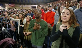 Evangelicals, who helped push President Trump into office, seek to hold the president's feet to the fire on religious freedom issues, including reversing Obama-era anti-discrimination hiring rules for federal contracts. (Associated Press)