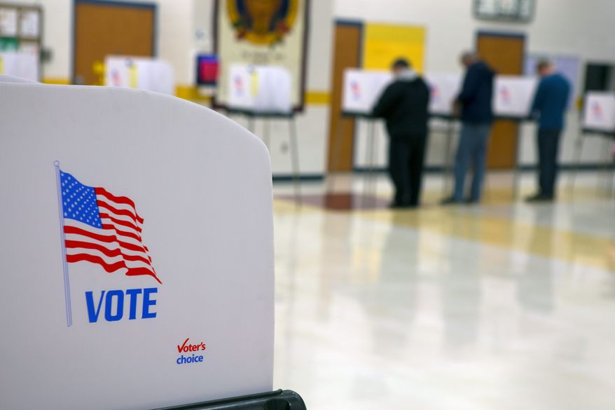 Oakdale Elementary School is just one polling site in Frederick, Maryland. Conservatives in the county went to court to show that noncitizens were registering, and an investigation found dozens had voted fraudulently in three years. (Associated Press)