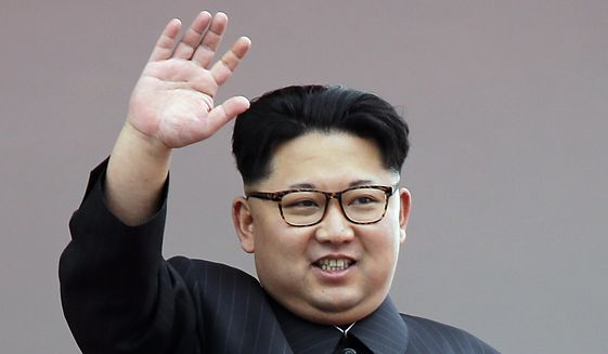 In this May 10, 2016, file photo, North Korean leader Kim Jong-un waves at parade participants at the Kim Il-sung Square in Pyongyang, North Korea. (AP Photo/Wong Maye-E, File)