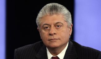 "In this April 11, 2011, file photo, Andrew Napolitano appears on the ""Varney & Co."" program on the Fox Business Network, in New York. (AP Photo/Richard Drew, File)"