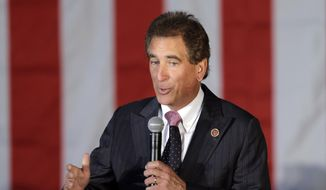 In this Sept. 29, 2014, file photo, U.S. Rep. Jim Renacci, R-Ohio, speaks at a GOP Get Out the Vote rally in Independence, Ohio. (AP Photo/Mark Duncan, File)
