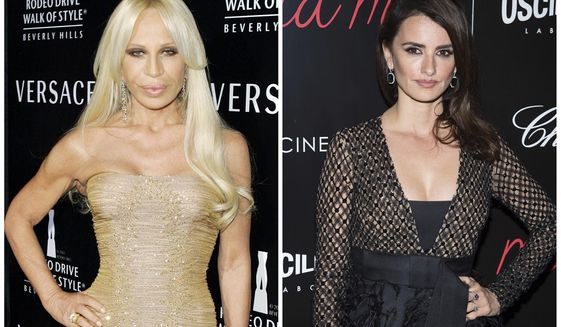 "In this combination photo, fashion designer Donatella Versace, left, attends an event honoring her with the Rodeo Drive Walk of Style Award on Feb. 8, 2007, in Beverly Hills, Calif., and Penelope Cruz attends a special screening of ""ma ma"", on May 24, 2016, in New York. Cruz is headed to television to play Versace in the third installment of ""American Crime Story"" on FX. The Academy Award winning actress will star in the 10-episode series focused on the 1997 slaying of Versace's brother, Gianni. Donatella Versace took over the famed fashion house after her brother was killed. (AP Photos/Mark J. Terrill, left, and Charles Sykes, Files)"