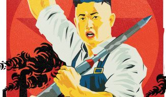 Illustration on Kim's North Korea by Linas Garsys/The Washington Times