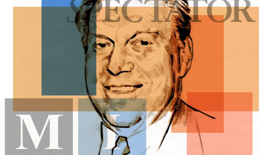Illustration of Chuck Brunie by Alexander Hunter/The Washington Times