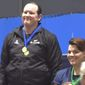 Transgender athlete Laurel Hubbard, 39, won a women's weightlifting competition at the Australian International in Melbourne, March 18, 2017. (1 News Now Australia, screenshot) ** FILE **