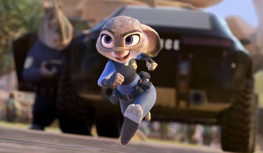 """This image released by Disney shows Judy Hopps, voiced by Ginnifer Goodwin, in a scene from the animated film, """"Zootopia.""""  Screenwriter and producer Gary L. Goldman sued Disney on Tuesday, March 21, 2017, in a Los Angeles federal court alleging last year's animated blockbuster """"Zootopia"""" copied a franchise he pitched the studio in 2000 and 2009 as a way to explore life in America through a society of civilized animals. (Disney via AP)"""