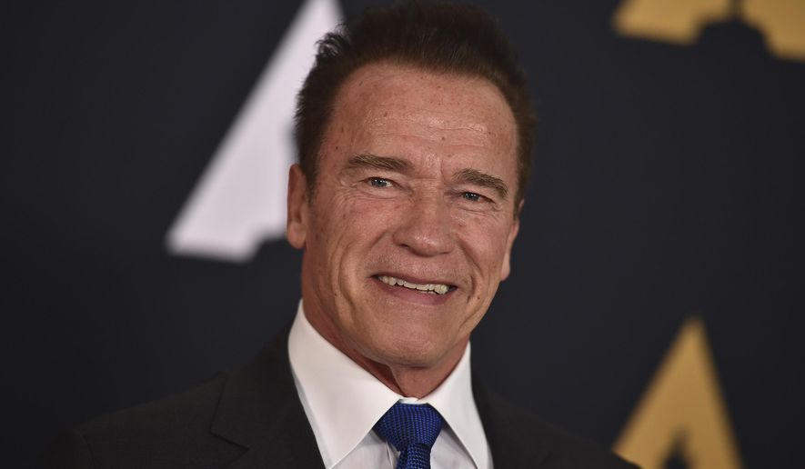 In this Nov. 12, 2016, file photo, Arnold Schwarzenegger arrives at the 2016 Governors Awards in Los Angeles. Schwarzenegger turned the table on President Donald Trump by taking to social media on March 21, 2017, to criticize Trump's approval rating. (Photo by Jordan Strauss/Invision/AP, File)