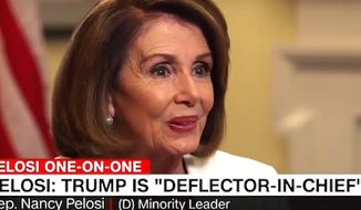 House Minority Leader Nancy Pelosi, D-Calif., appears on CNN with Anderson Cooper on March 21, 2017. (CNN screenshot)