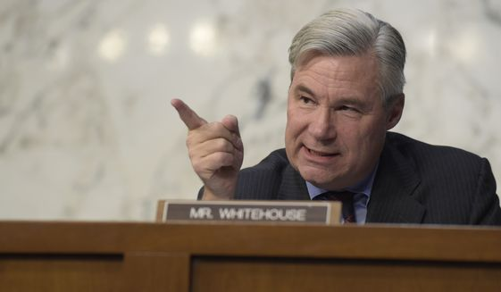 Senate Judiciary Committee member Sheldon Whitehouse, Rhode Island Democrat, says he specifically wants answers about the leaks surrounding President Trump's former national security adviser, Michael Flynn, who resigned over contacts with Russia. (Associated Press/File)