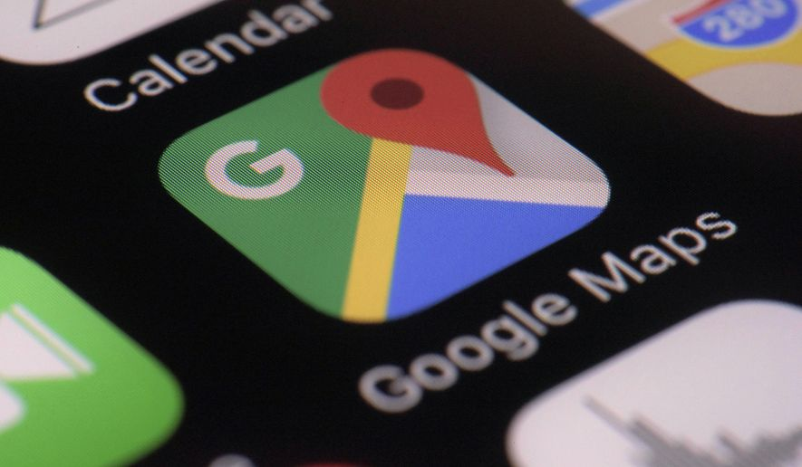This Wednesday, March 22, 2017, photo shows the Google Maps app on a smartphone, in New York. (AP Photo/Patrick Sison)