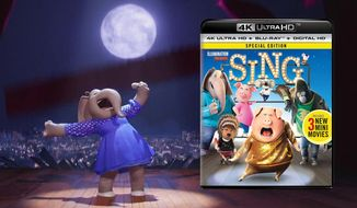 "Meena (Tori Kelly), an elephant with an awesome voice co-stars in ""Sing: Special Edition,"" now available on 4K Ultra HD from Universal Studios Home Entertainment."