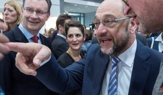 Martin Schulz, the German Social Democratic Party's popular top candidate, has momentum that puts Chancellor Angela Merkel's hopes for a fourth term at risk. (Associated Press)