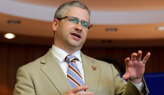 Rep. Patrick McHenry, a North Carolina Republican (Associated Press) **FILE**