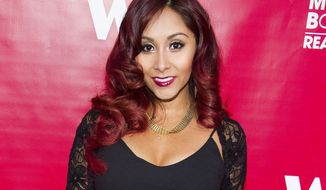 "FILE - In this May 29, 2014 file photo, Nicole ""Snooki"" Polizzi attends WE tv's ""Marriage Boot Camp: Reality Stars"" party in New York. Under legislation inspired by former ""Jersey Shore"" reality TV star Polizzi, no more than $10,000 of state money could go to pay speakers at New Jersey's public universities. The Democrat-controlled Assembly is scheduled to vote on the bill Thursday, March 23, 2017. (Photo by Charles Sykes/Invision/AP, FIle)"