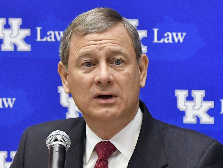 Chief Justice John G. Roberts Jr. worried what voters would think if judges strike down state maps by ruling that one party was destined to too many seats. (Associated Press/File)