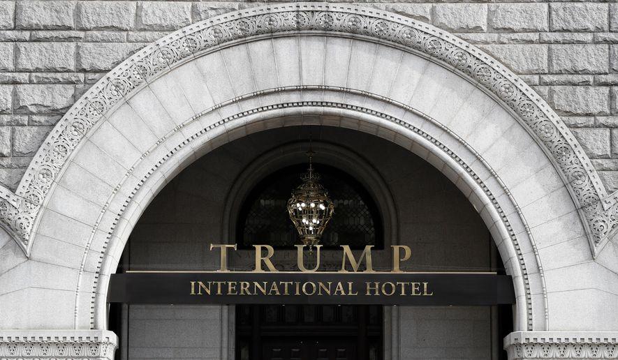 In this Dec. 21, 2016, file photo, the Trump International Hotel in Washington. (AP Photo/Alex Brandon, File)