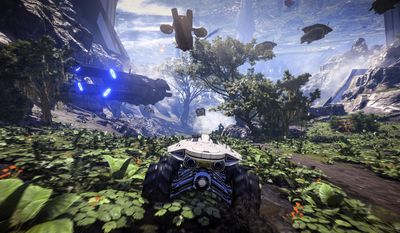 """This video game image released by Electronic arts shows a scene from, """"Mass Effect: Andromeda."""" (Electronic Arts via AP)"""