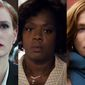 """Jessica Chastain in """"Miss Sloane,"""" Viola Davis in """"Fences"""" and Isabelle Huppert in """"Elle,"""" all available on Blu-ray."""