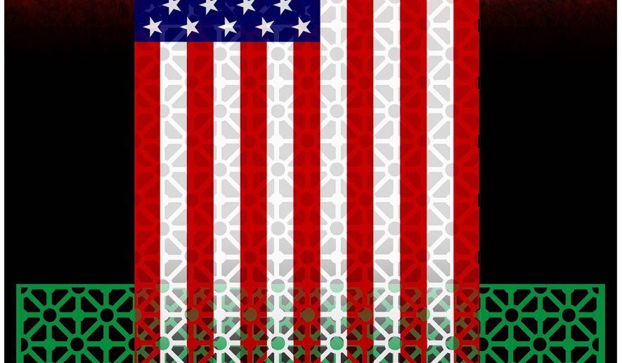Illustration on U.S./Saudi cooperation by Alexander Hunter/The Washington Times