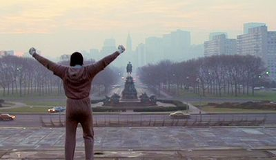 "Rocky (1976) - Directed by John G. Avildsen and both written by and starring Sylvester Stallone. It tells the rags to riches American Dream story of Rocky Balboa, an uneducated but kind-hearted working class Italian-American boxer working in a meat warehouse and as a debt collector for a loan shark in the slums of Philadelphia. Rocky starts out as a small-time club fighter, and later gets a shot at the world heavyweight championship. The film also stars Talia Shire as Adrian, Burt Young as Adrian's brother Paulie, Burgess Meredith as Rocky's trainer Mickey Goldmill, and Carl Weathers as the champion, Apollo Creed. The film, made on a budget of just over $1 million and shot in 28 days, was a sleeper hit; it earned $225 million in global box office receipts, becoming the highest-grossing film of 1976, and went on to win three Oscars, including Best Picture. The film received many positive reviews and turned Stallone into a major star.[3] In 2006, the film was selected for preservation in the United States National Film Registry by the Library of Congress as being ""culturally, historically, or aesthetically significant"". Rocky is considered to be one of the greatest sports films ever made."