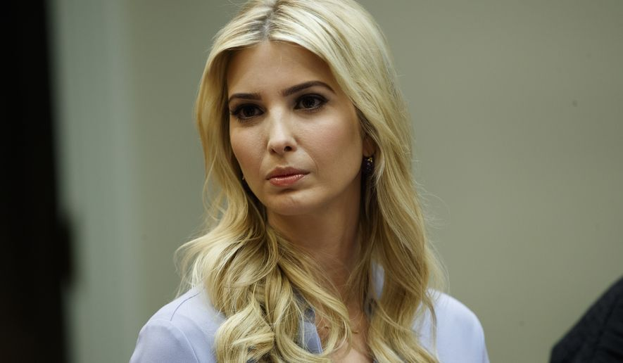 Ivanka Trump, the daughter of President Donald Trump, listens during a meeting between President Donald Trump and women small business owners in the Roosevelt Room of the White House in Washington, Monday, March 27, 2017. (AP Photo/Evan Vucci) ** FILE **