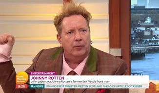 Punk rock icon John Lydon, better known by his stage name Johnny Rotten (ITV) **FILE**