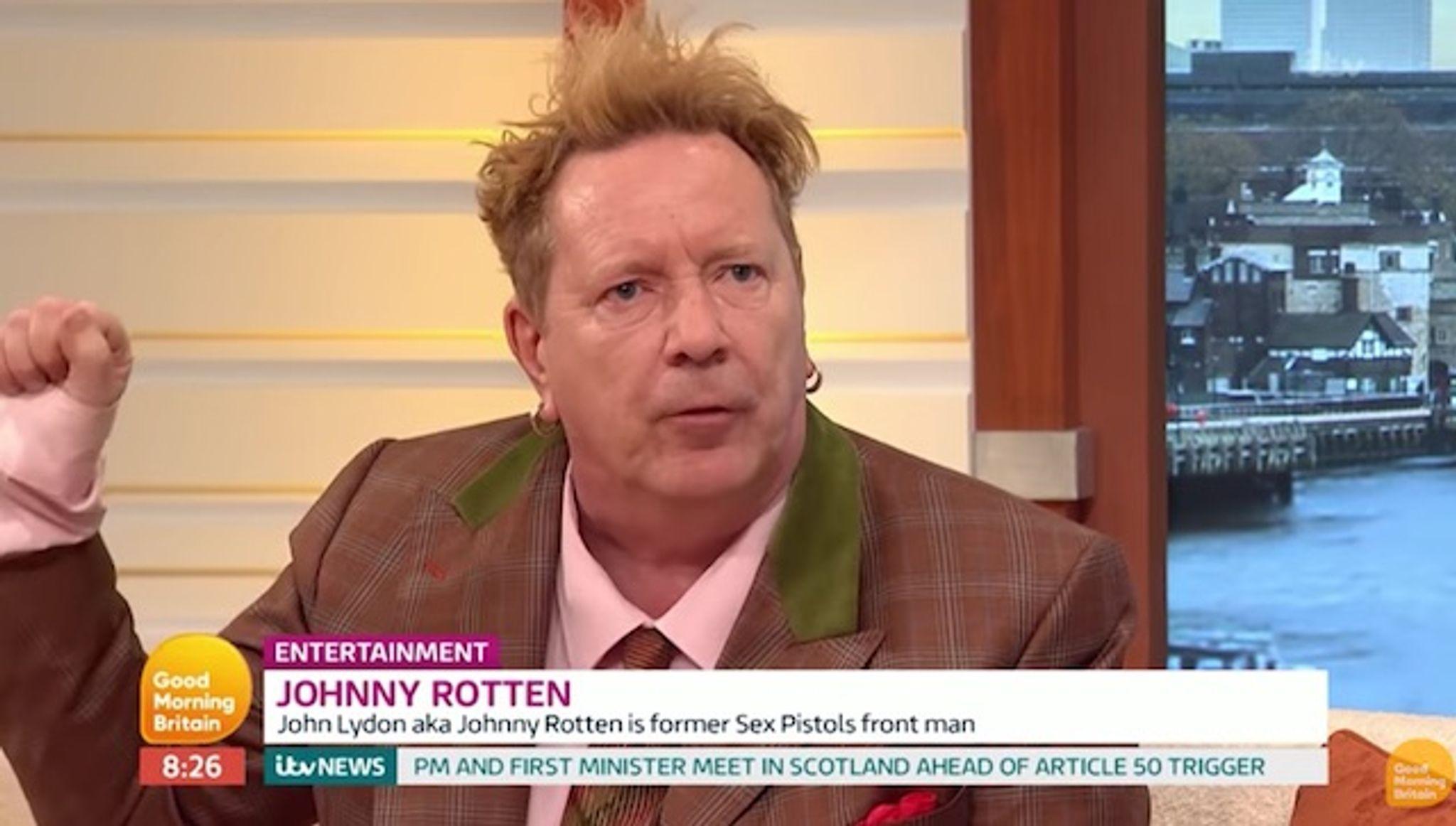 Johnny Rotten defends Donald Trump, slams 'left-wing media'
