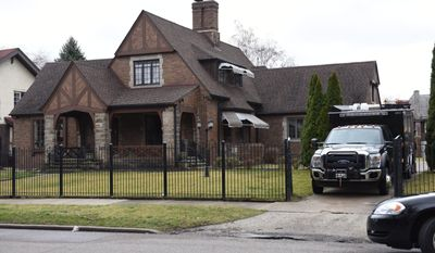 The FBI search State Sen. Bert Johnson's Highland Park home Monday, March 27, 2017. The FBI and Michigan State Police also conducted searches at Johnson's Lansing office. Johnson, D-Highland Park, has been a state lawmaker since winning election in 2006, first in the House and now in the Senate. (Tanya Moutzalias/The Ann Arbor News via AP)