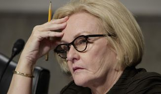 Sen. Claire McCaskill, D-Mo., listens on Capitol Hill in Washington, in this March 14, 2017, file photo. (AP Photo/J. Scott Applewhite, File)