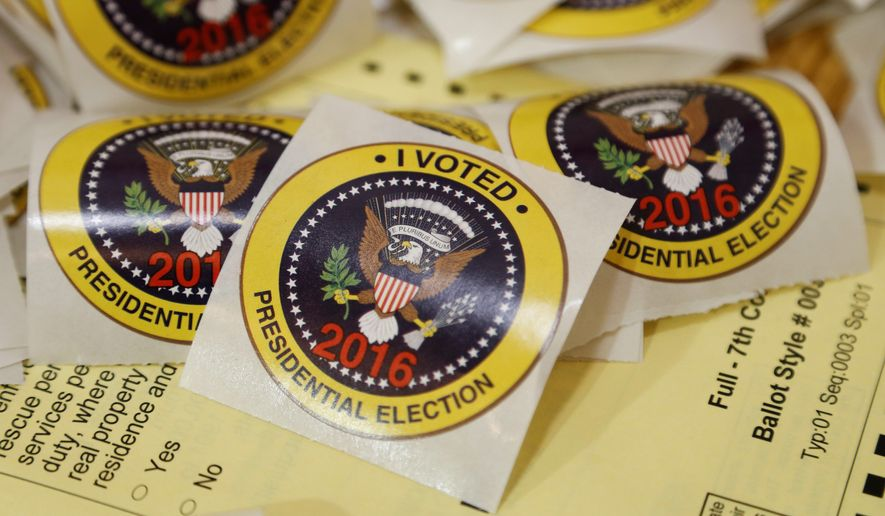 Americans generally discount Democrats' fears that requiring voters to show identification at the polls will keep many legitimate voters from casting ballots, a study has found. (Associated Press/File)