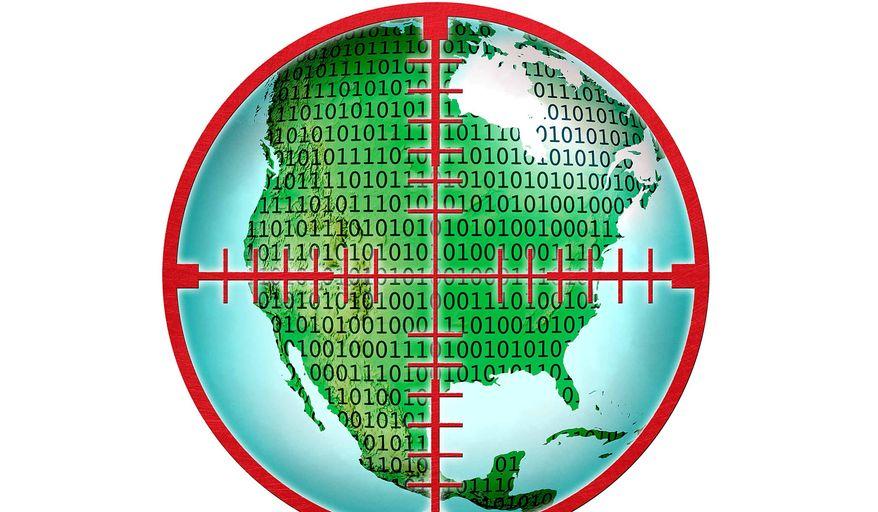 Cyber Warfare Illustration by Greg Groesch/The Washington Times