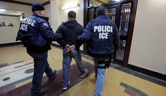 Baltimore Police Commissioner Kevin Davis said that his officers will not work with federal agents to enforce immigration policies by turning over illegals. Commissioner Davis said his officers won't even ask the legal status of those they encounter while on patrol. (Associated Press)