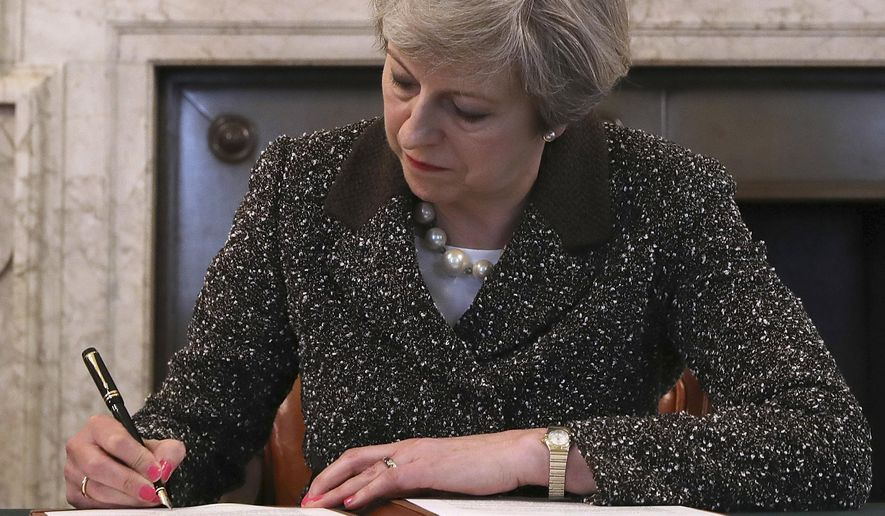 British Prime Minister Theresa May  is perceived to have a poor negotiating stance with the European Union. (Associated Press/File)