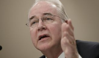 Health and Human Services Secretary Tom Price, a doctor and former congressman, testifies on Capitol Hill in Washington, Wednesday, March 29, 2017, before a House Appropriations subcommittee hearing to outline the Trump administration's proposals to trim the HHS budget. (Associated Press) **FILE**