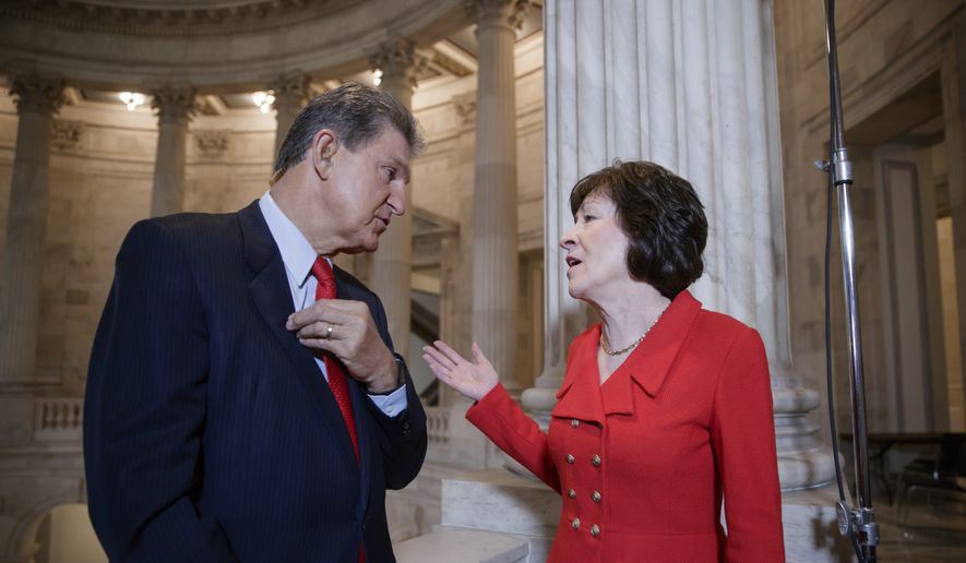 Image result for photos of senator collins manchin
